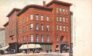 Hartford Connecticut~Allyn House Hotel~Busy Corner~1912 Postcard