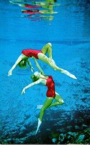 Florida Weeki Wachee Springs Underwater Scene With Mermaids