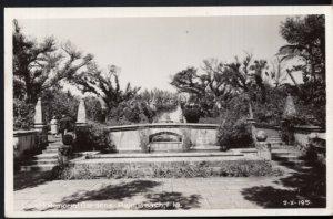 Florida PALM BEACH Cluett Memorial Gardens - RPPC by EKC1939-1950