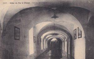 Dormitry Corridor at Hotel De Fer A Cheval France Old Postcard