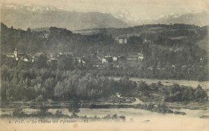 Postcard France Pau la chaine des Pyrenees