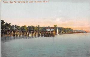 Maine Casco Bay Pier at Little Diamond Island