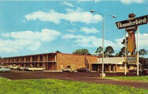 Hardeeville South Carolina~Thunderbird Lodge~Restaurant~1960s Cars Postcard