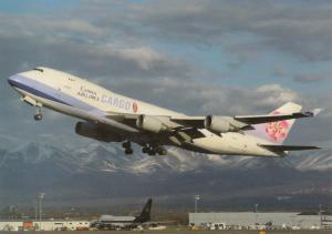 CHINA Airlines, Boeing 747-409F, unused Postcard