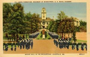 MD - Annapolis. US Naval Academy, Mahan Hall, Midshipmen