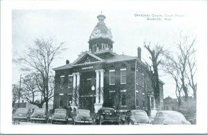 Vtg Postcard RPPC 1940s Starkville, MS Mississippi Oktibbeha County Court House