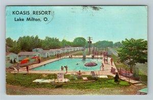 Lake Milton OH- Ohio, Koasis Resort,  Advertising, Chrome c1969Postcard