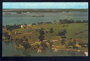 Clayton, 1000 Islands, New York/NY Postcard, Aerial View Of Cal's Cottages