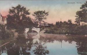 Maine Denmark Town Scene With Bridge