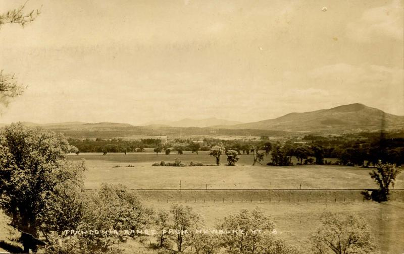 NH - Franconia Range from Newbury, VT  *RPPC