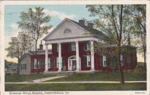 Virginia Fredericksburg Brompton Marye Mansion 1946