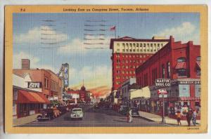 P1019 1947 autos store signs martin drug co etc congress street tucson arizona