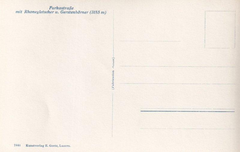 RP; SWITZERLAND, 1920-1940s; FurkastraBe Mit Rhonegletscher U. Gerstenhorner