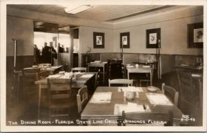 Jennings FL-Lake Park GA State Line Grille Interior~Booth Jukeboxes~RPPC 1940s