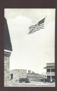 RPPC BALTIMORE MARYLAND FORT MCHENRY US ARMY BASE REAL PHOTO POSTCARD