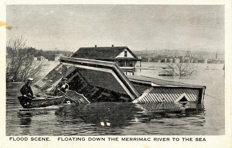 NH - Hudson. 1936 Flood, Merrimack River