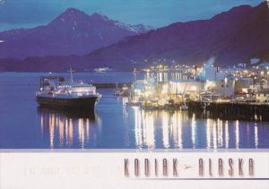 Alaska Kodiak At Night M/V Tustamena 1998