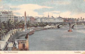 The Embankment River Bridge Pont Promenade Panorama London