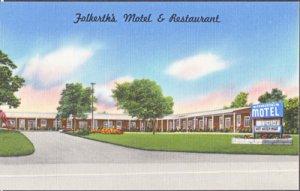 Buffalo NY - Folkerth's Motel and Restaurant, U.S. Route 20, 1930/40s