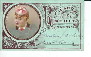 AS-037 - Six Rewards of Merit, Late 1800's Vintage Great illustrations
