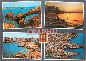 Modern Postcard Costa Brava La Escala Various aspectos
