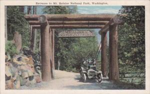 Washington Mt Rainier National Park Entrance