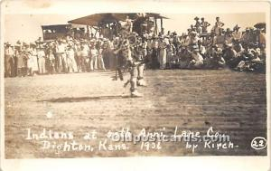 Indians at Anni Lane Co 1936 by Kirch, Dighton, Kansas, KS, USA Unused