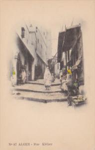 Algeria Alger Rue Kleber Street Scene