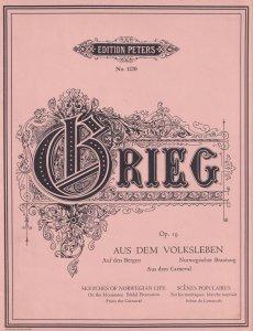 Grieg Aus Dem Opus 19 Volksleben Edition Peters Classical Sheet Music Book