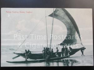 c1910 Ceylon: Native Fishing Boats - Pub by Plate & Co - No.24