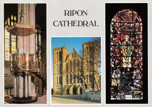 Postcard Ripon Cathedral, Multi View by Judges O11