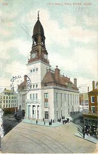 D/B City Hall Fall River Massachusetts MA 1907