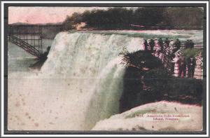 New York, Niagara American Falls From Goat Island - [NY-219]