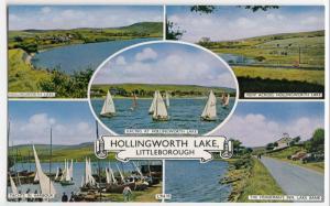 Lancashire; Hollingworth Lake, Littleborough Multiview PPC, c 1950's, Unposted