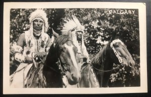 Mint Canada RPPC Postcard Native American Indian Calgary Stampede Blackfoot N