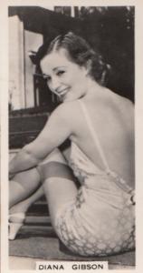 Diana Gibson Hollywood Actress Rare Real Photo Cigarette Card