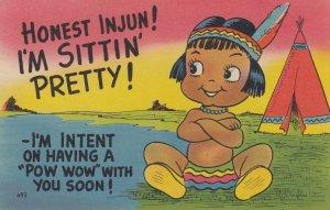Indian Boy Comic , 1952 ; Honest Injun! I'm sittin' Pretty!