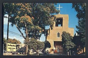 Sante Fe, New Mexico, NM Postcard, San Miguel Church