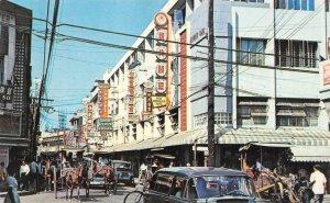 Chinatown MANILA Philippines Street Scene c1950s Vintage Postcard