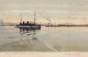 Santiago de Cuba , CUBA , 1901-07 ; Las Carboneras (La escuadra americana)
