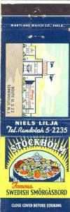Somerville, New Jersey/NJ Matchcover, Stockholm Restaurant