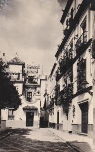 RP: SEVILLA , Spain , 1930s ; The Dona Elvira Square's Corner