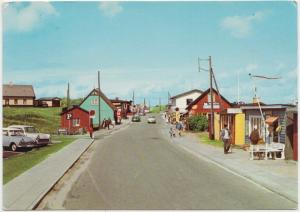Vejers strand, The beach, Denmark, 1967, used Postcard