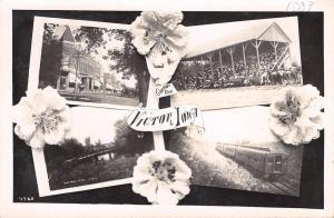 Victor Iowa~Multi Mini View~Train~Bear Creek Bridge~Grandstand~Street~1909 RPPC