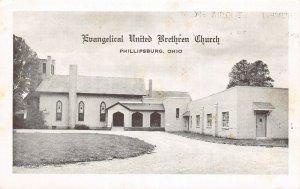 F52/ Phillipsburg Ohio Postcard c1940s Evangelical Brethren Church