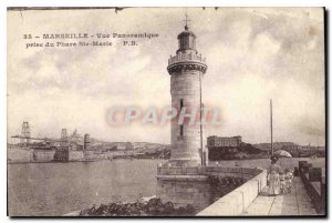 Postcard Old Marseille panoramic view from the Lighthouse Ste Marie