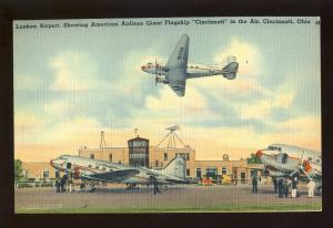 Cincinniti, Ohio/OH Postcard, Lunken Airport, American Ailones Flagship