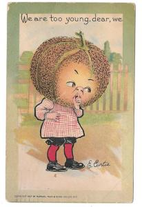 Tuck Fantasy E Curtis Veggie Girl Cantaloupe Vintage 1907