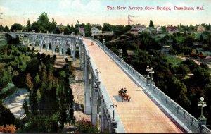 California Pasadena The New Arroyo Seco Bridge 1916