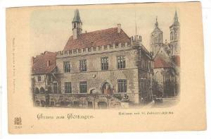 Gruss Aus Gottingen (Lower Saxony), Germany, 1890s ; Rathaus